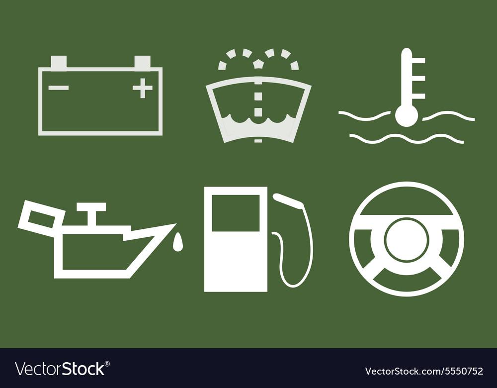 Modern car icons set vector image
