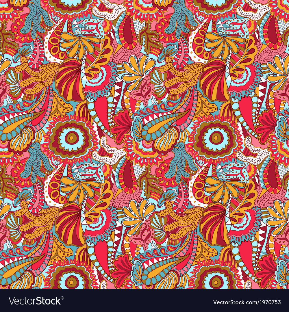 Beauty bright spring pattern vector image