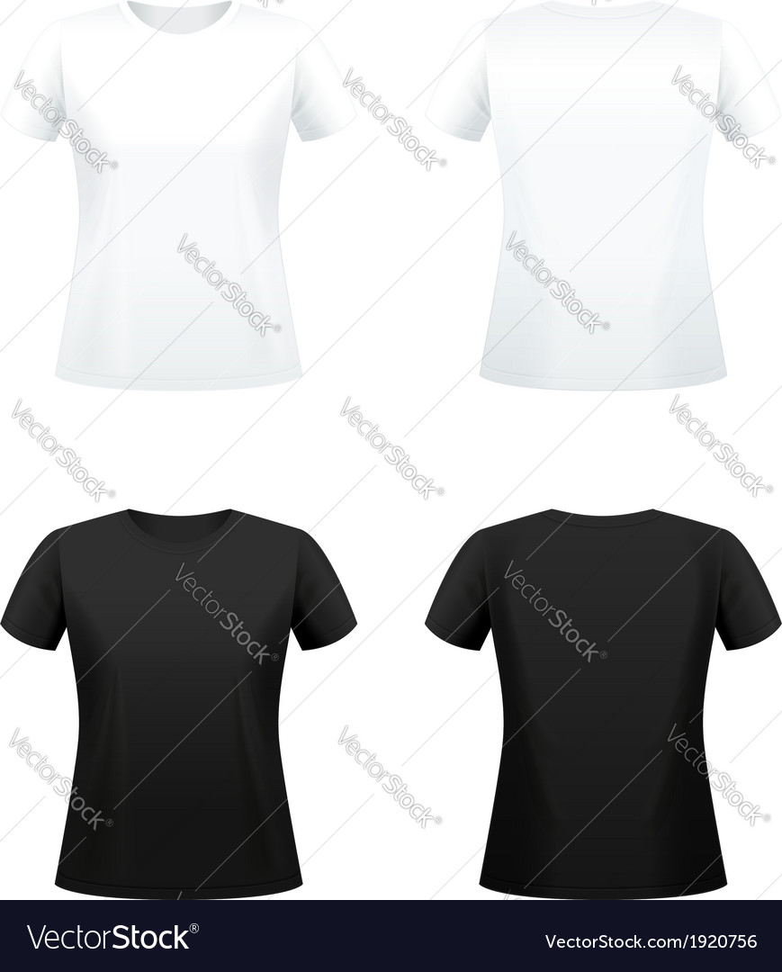 T shirts for women vector image