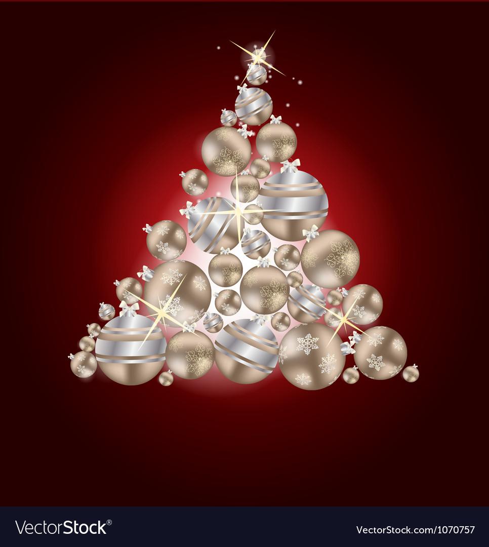 Elegant Christmas Card Background Vector Image