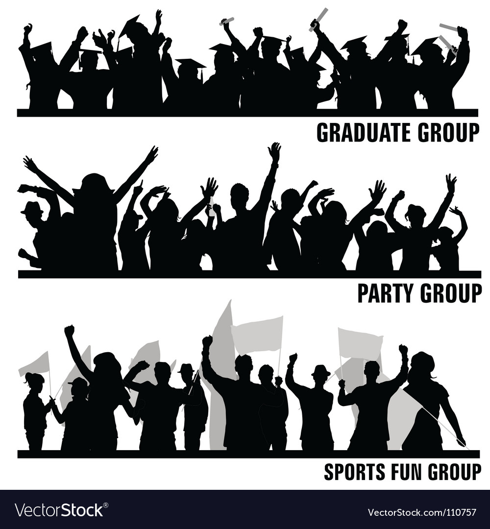Group peoples vector image