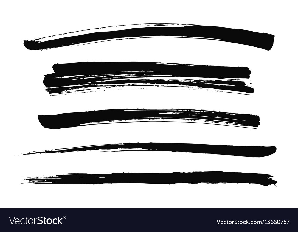 Hand drawn ink strokes vector image