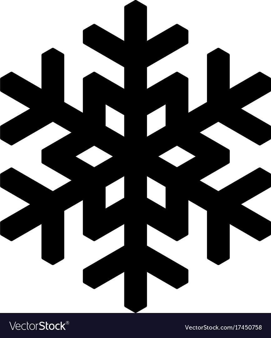 Simple Snowflake Silhouette Simple Snowflakes Vect...