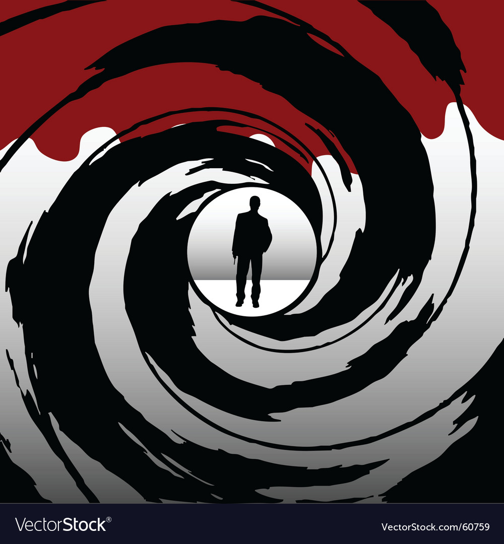 Gun barrel vector image