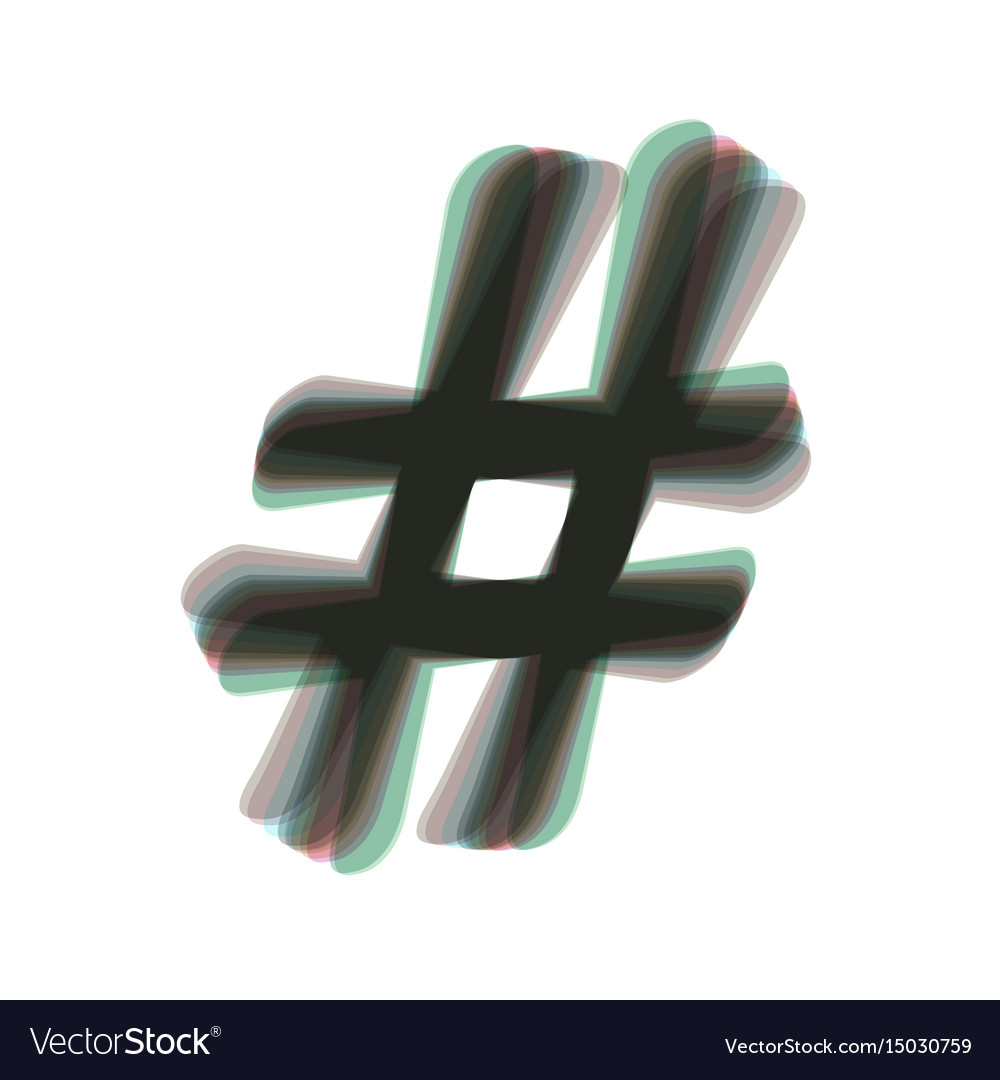 Hashtag sign colorful icon vector image