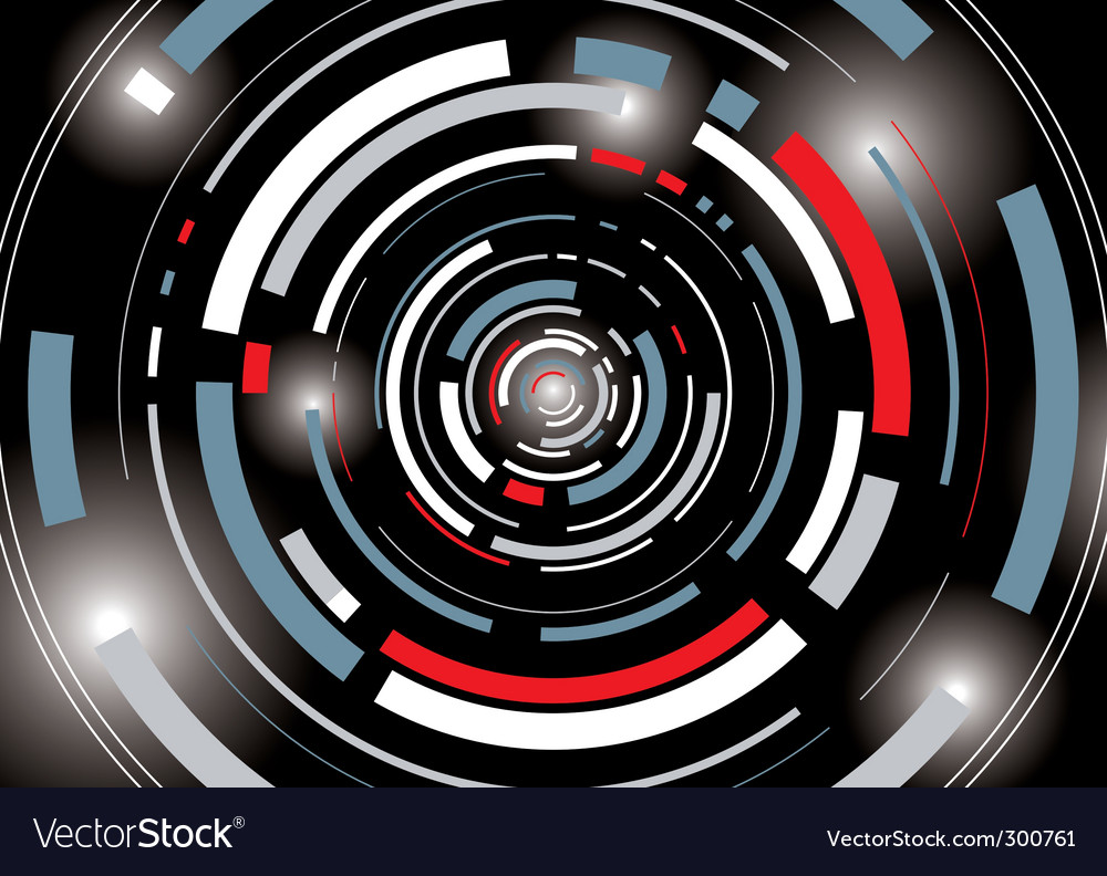 Galatic tunnel vector image