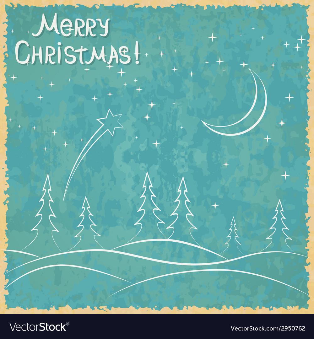 Christmas grunge background vector image