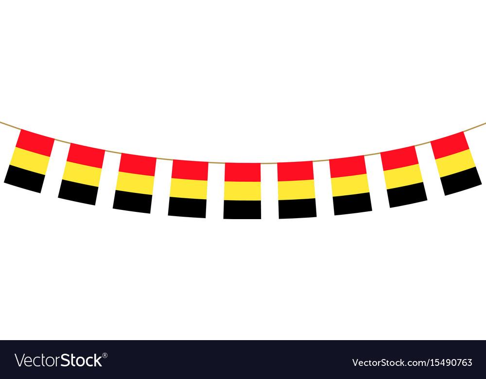 Belgium bunting vector image