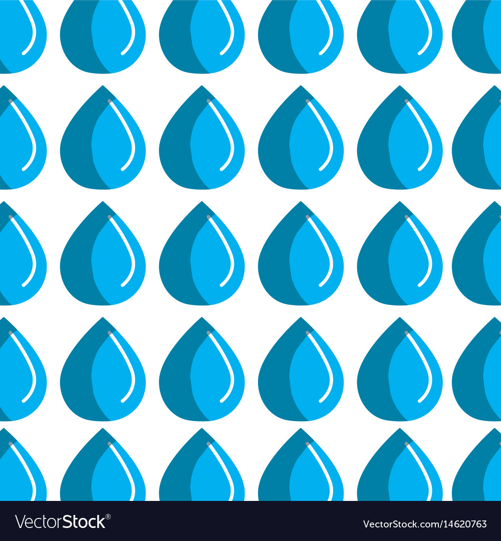 Blue line drop of water background vector image