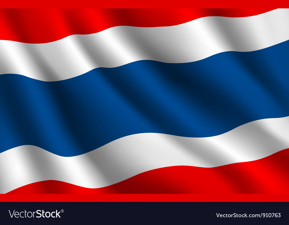 Thailand flag background vector image