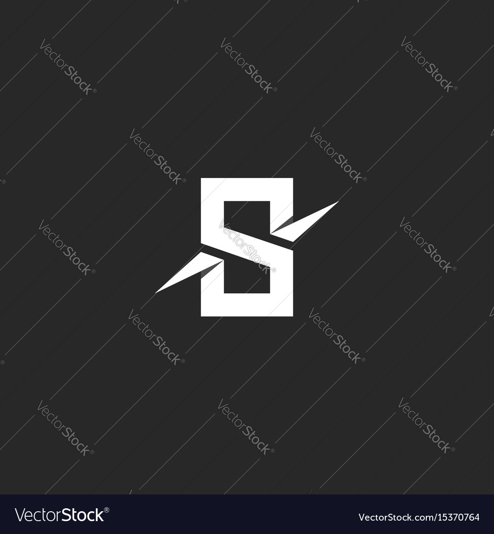 Letter s logo paper material design style vector image