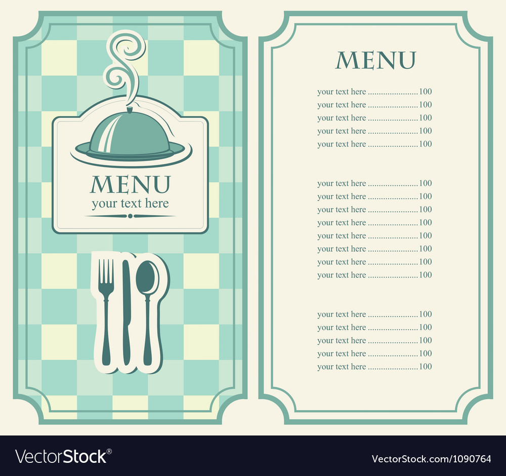 Menu tray vector image