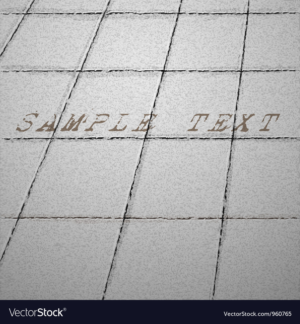 Tiles ground background Vector Image