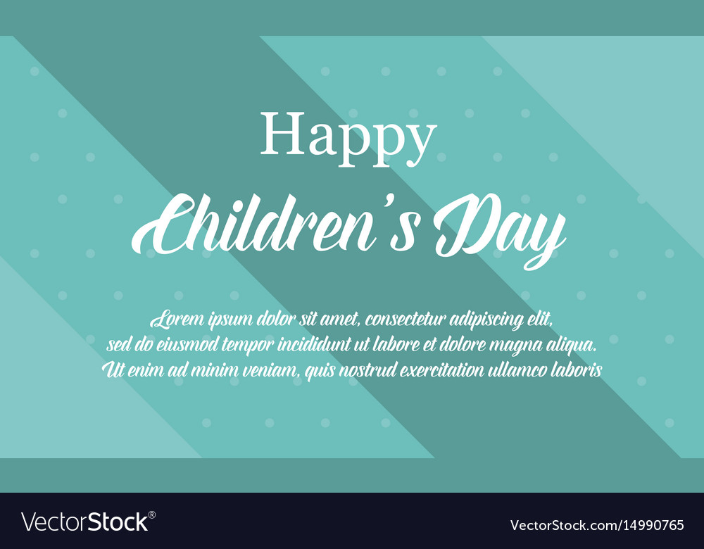 Children day background collection stock vector image