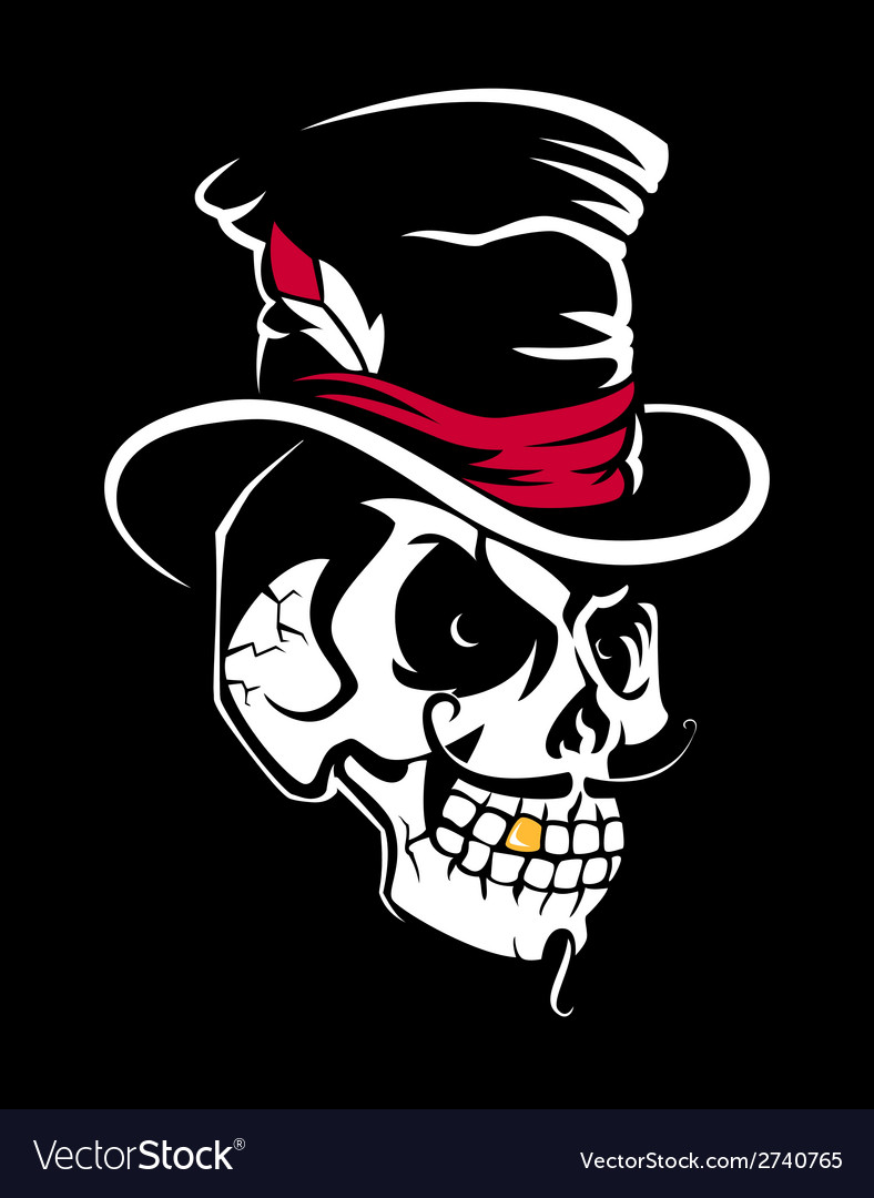 Skull in the Cylinder vector image
