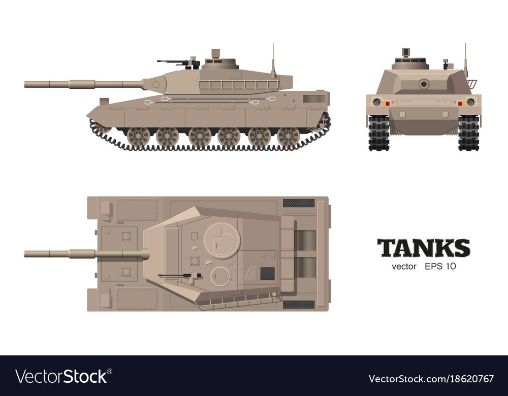 Realistic tank blueprint armored car royalty free vector realistic tank blueprint armored car vector image malvernweather Images