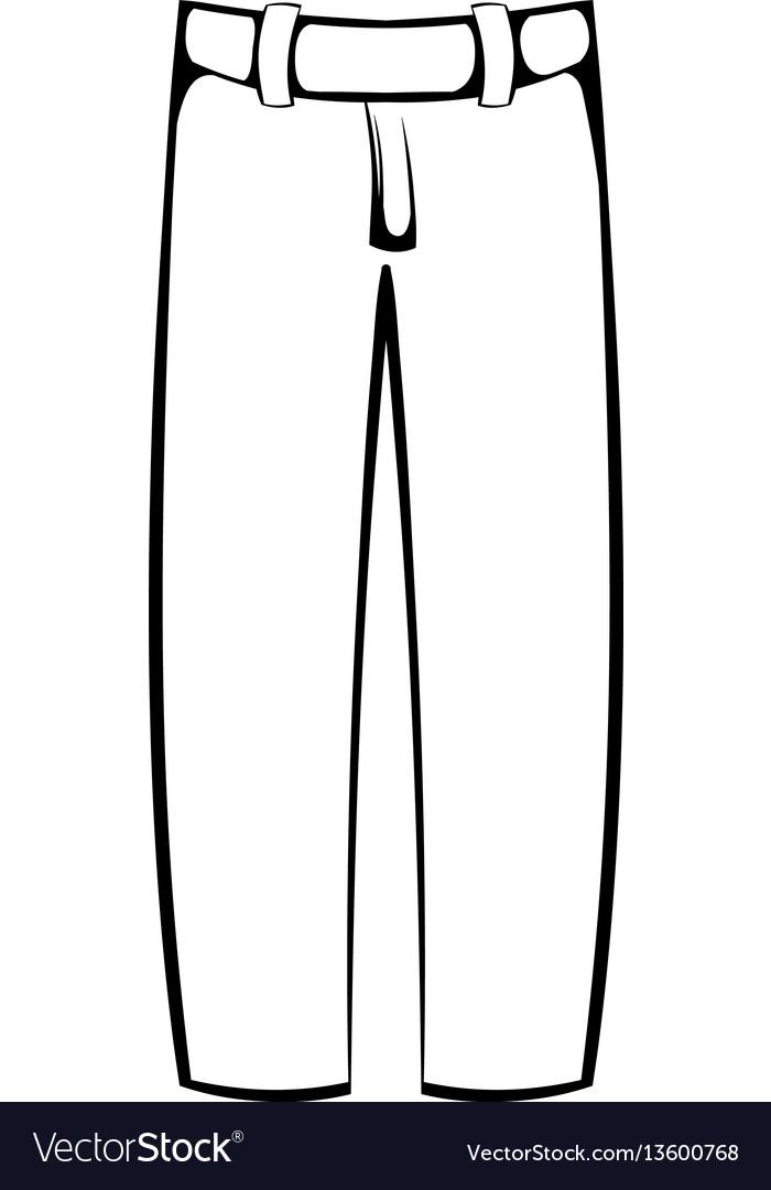 baseball pants icon icon cartoon royalty free vector image rh vectorstock com Vector Jeans Jordan Vector