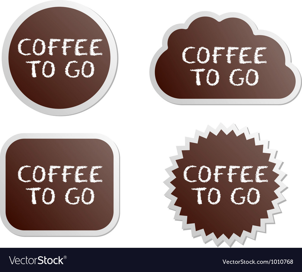 Coffee to go buttons vector image