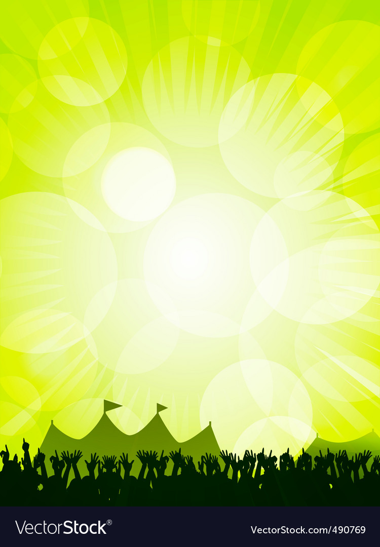 Festival and crowd vector image