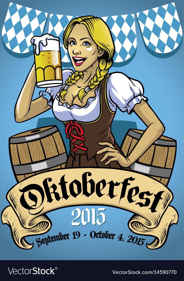 Oktoberfest poster event vector image