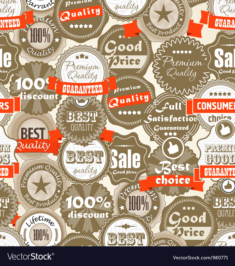 Hopping Premium quality labels vector image