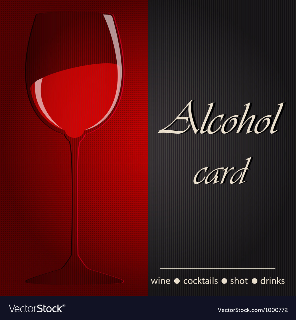 Template of an alcohol menu vector image