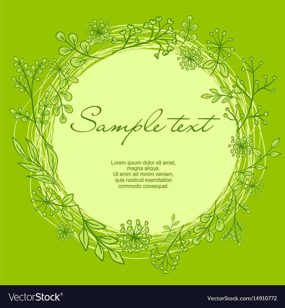 Wreath with text vector image