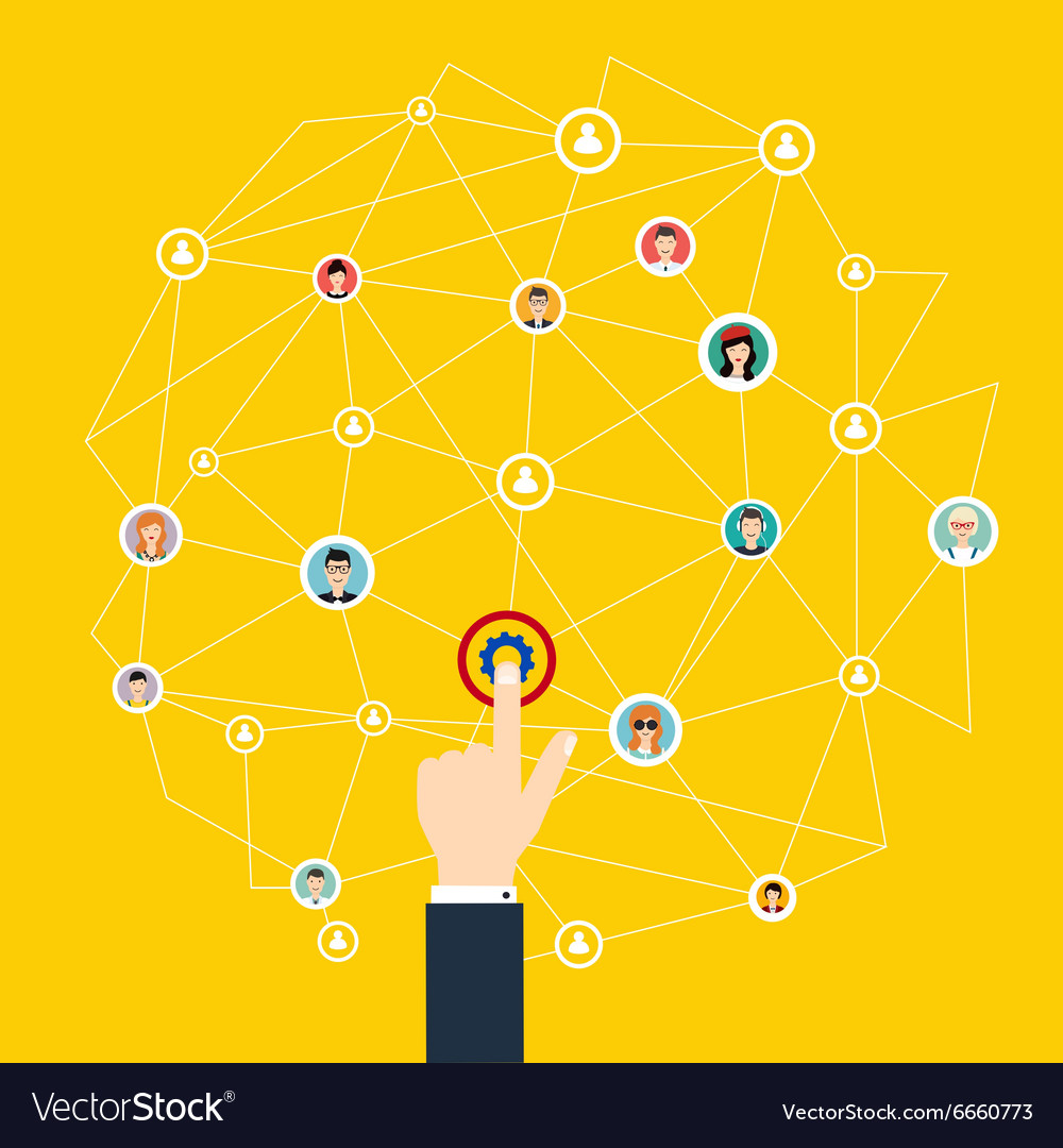 Business communication Social media and network vector image