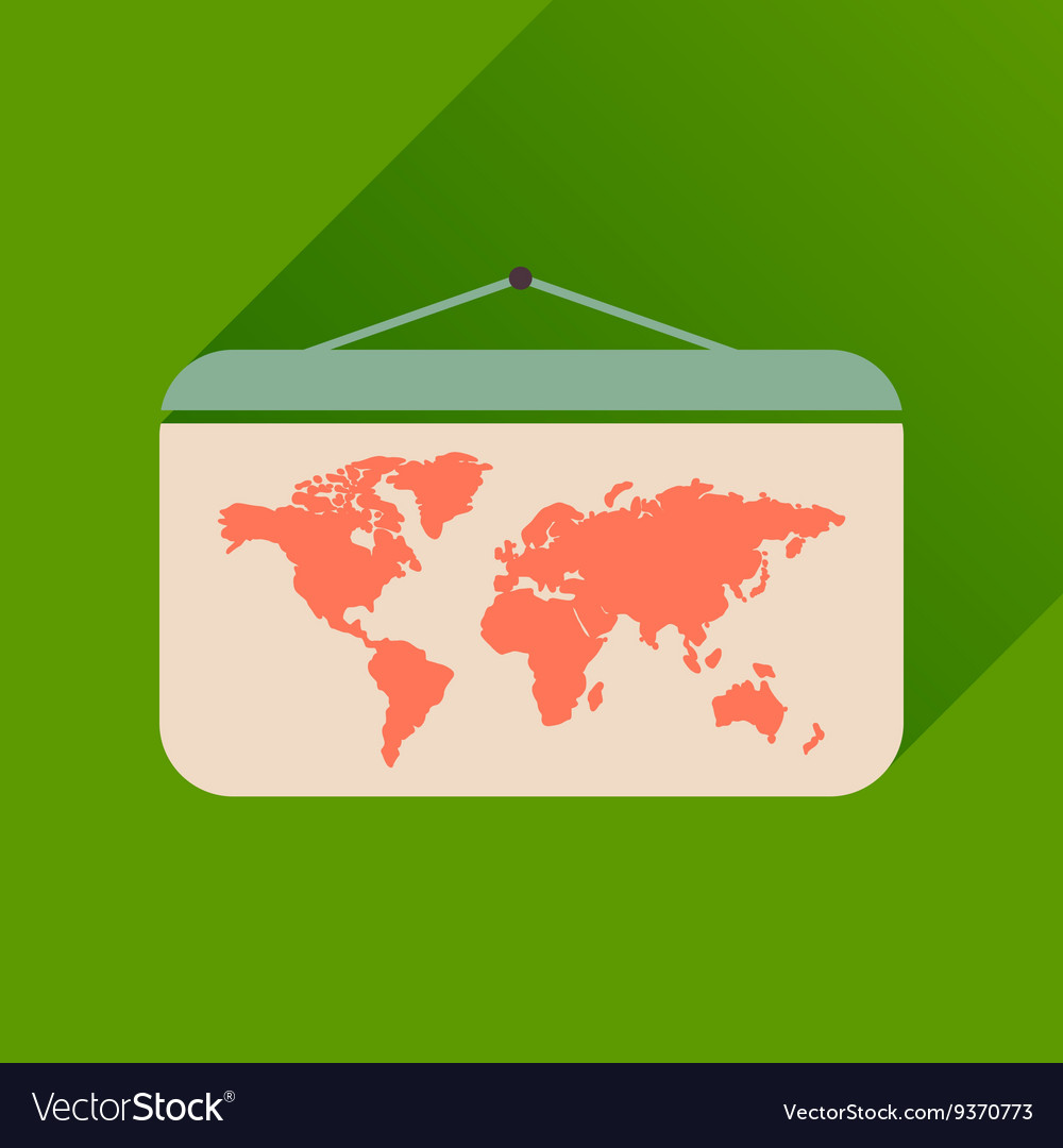 Flat icon with long shadow world map royalty free vector flat icon with long shadow world map vector image gumiabroncs Image collections