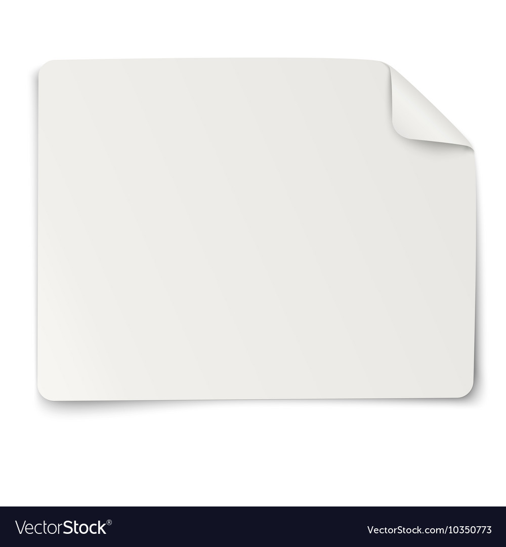 Rectangular paper sticker note isolated vector image