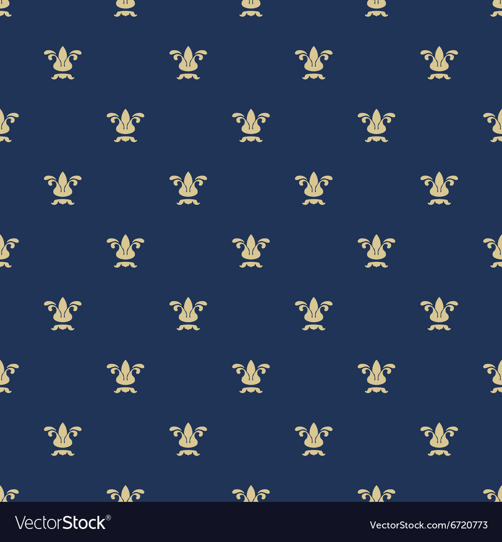 Seamless pattern with royal lily texture vector image