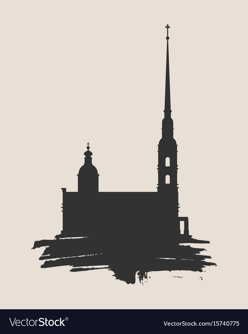 Peter and paul fortress in saint petersburg vector image