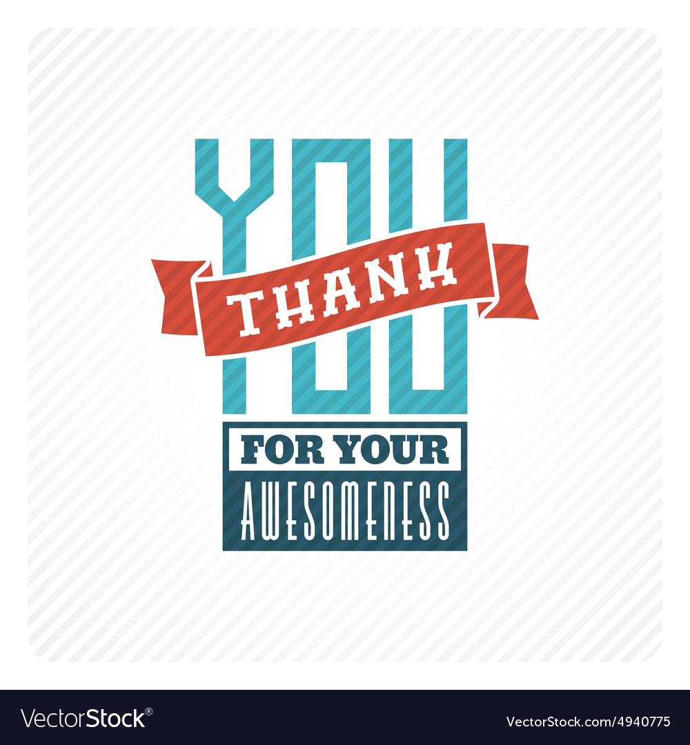 vintage thank you card royalty free vector image
