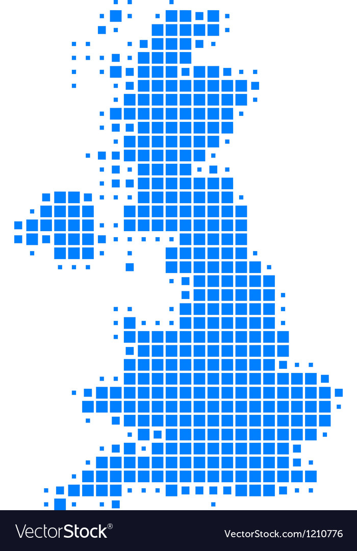 Map of Great Britain vector image