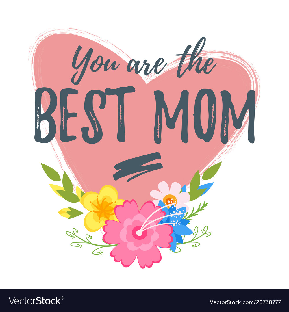 Template Greeting Card Royalty Free Stock Image: Mothers Day Greeting Card Template Royalty Free Vector Image