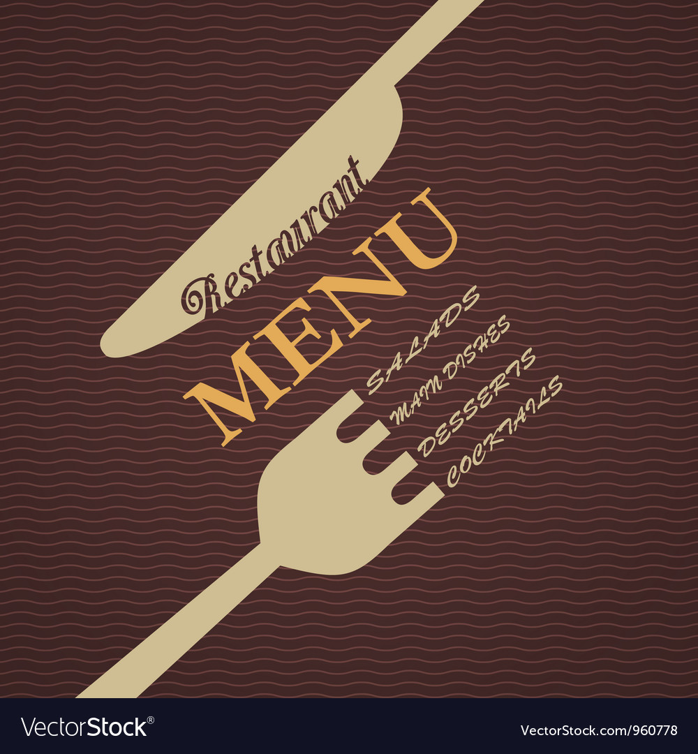 Restaurant menu design royalty free vector image