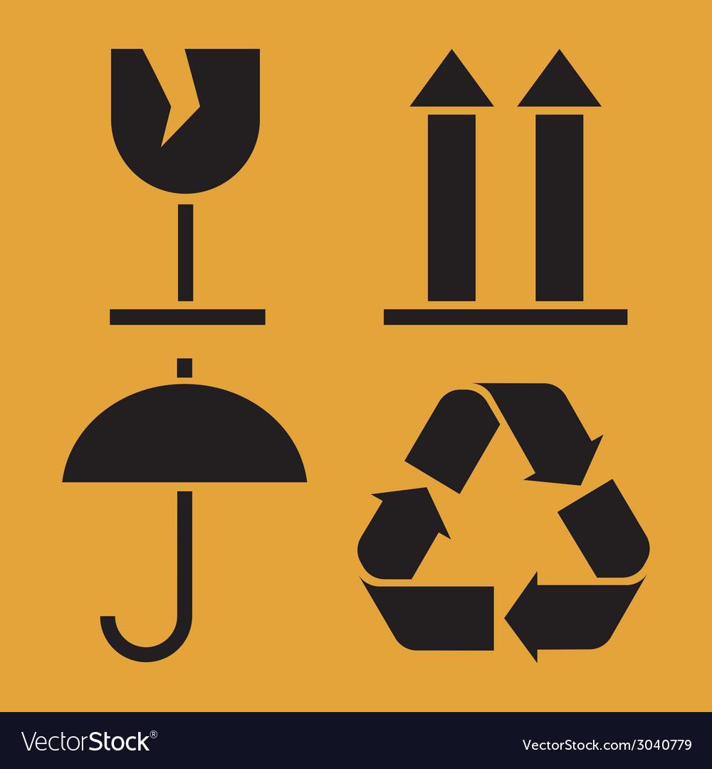 Packaging Symbols vector image