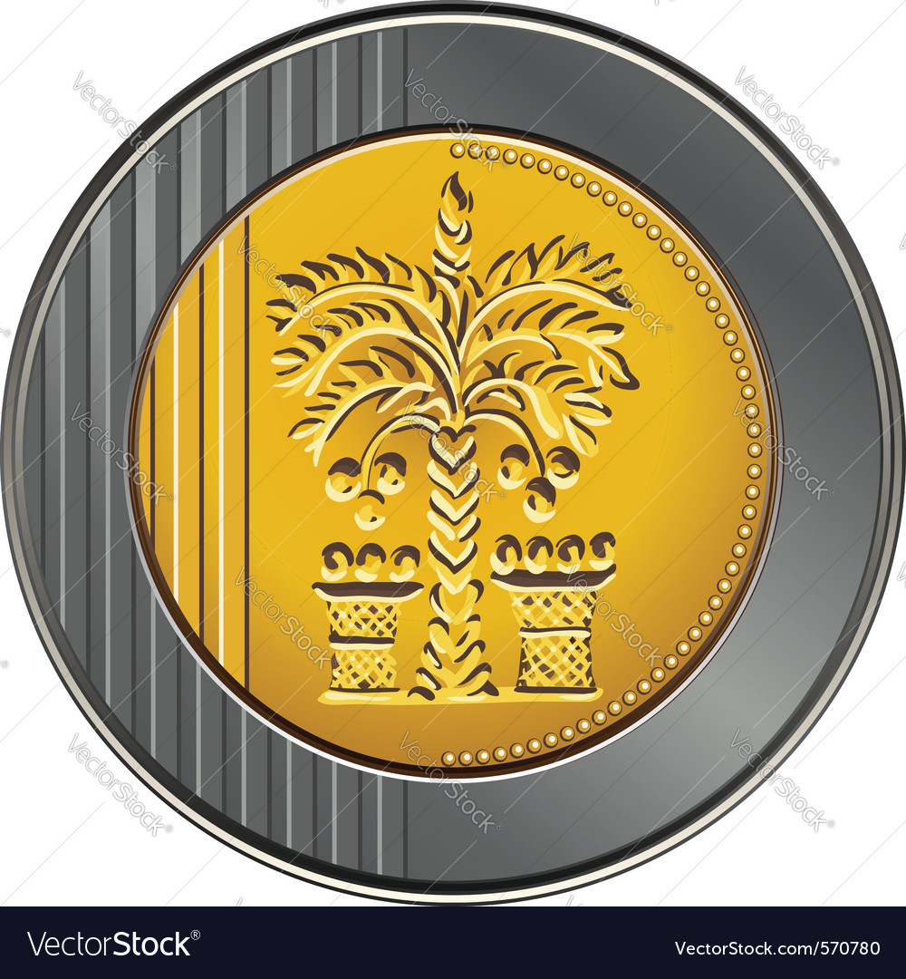 Israeli coin 10 shekel vector image