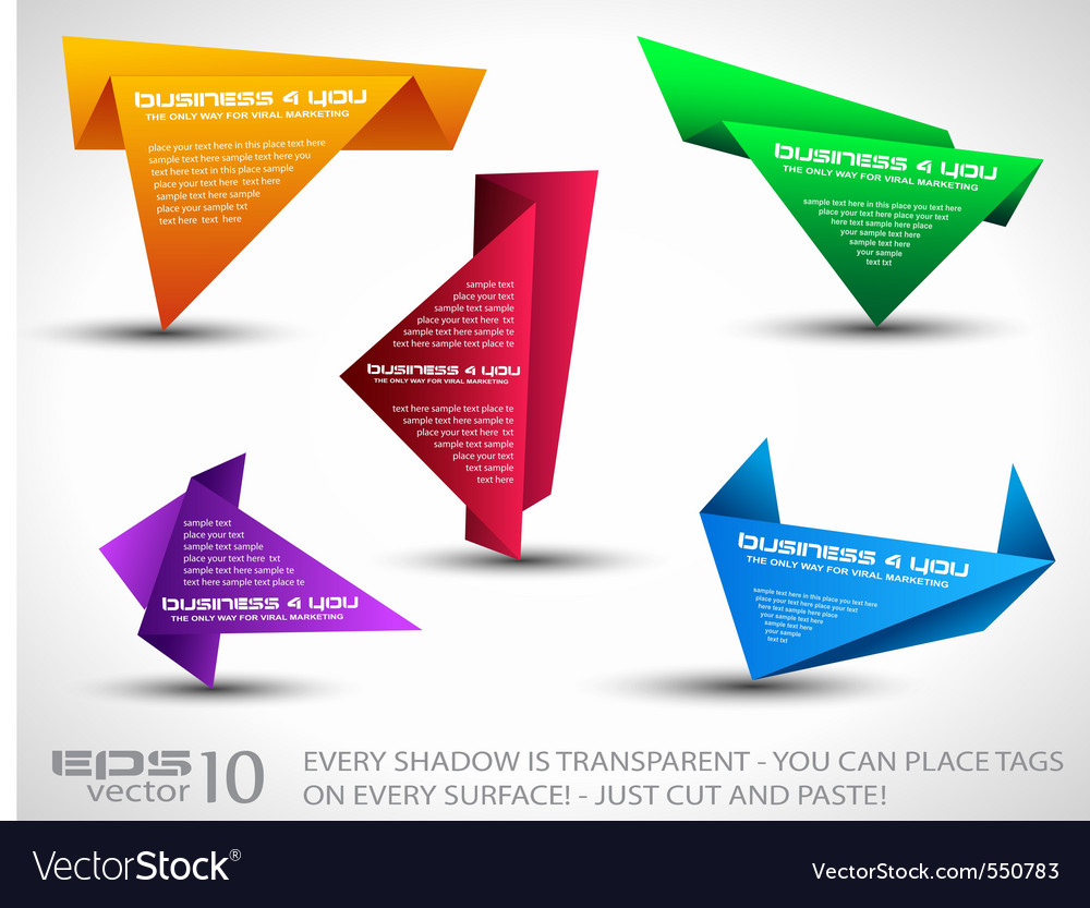 Origami triangle Vector Image