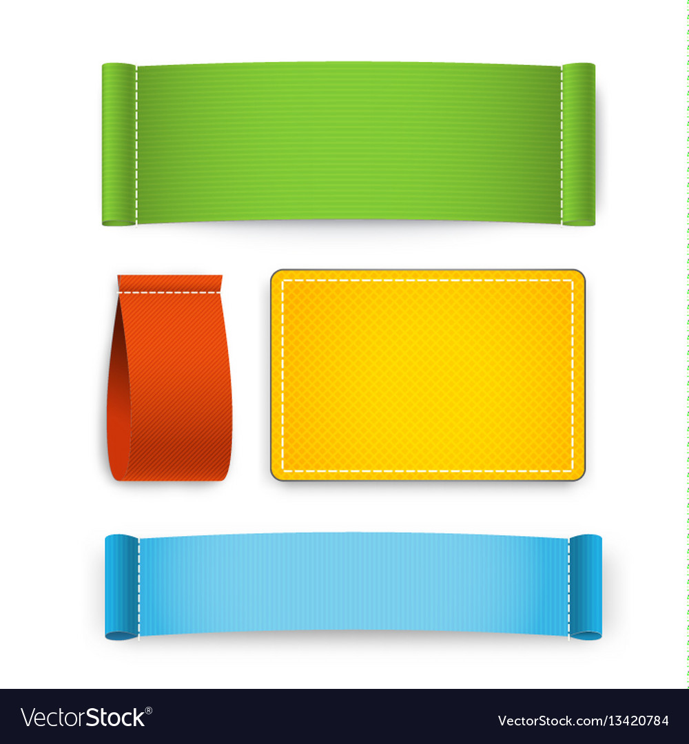 Colorful clothing label set vector image