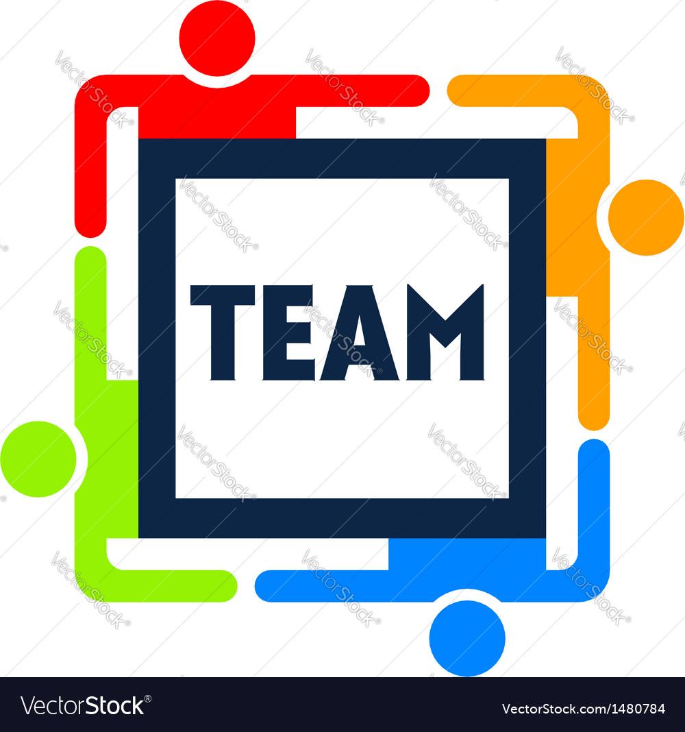 Team Square Logo vector image