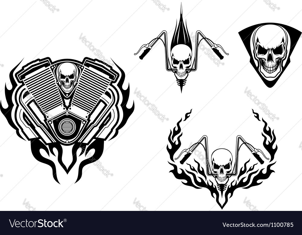 Death monster for racing mascot or tattoo vector image