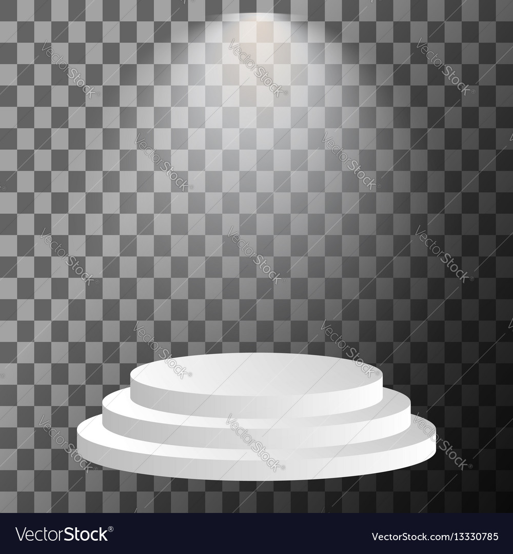 Stage podium illuminated vector image