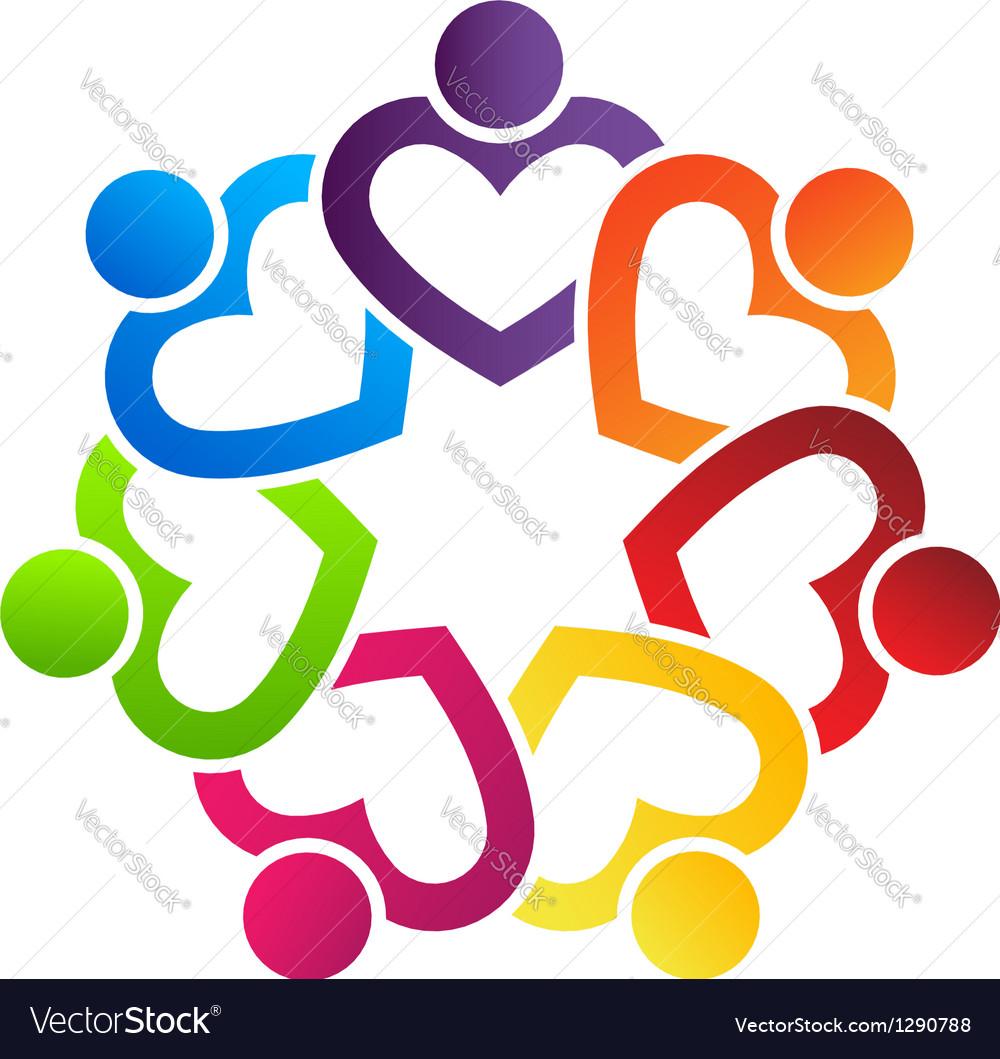 Team Heart Vector Image
