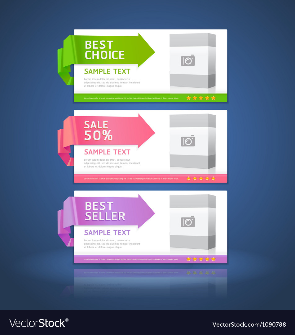 Colorful Origami Style Options Banner vector image