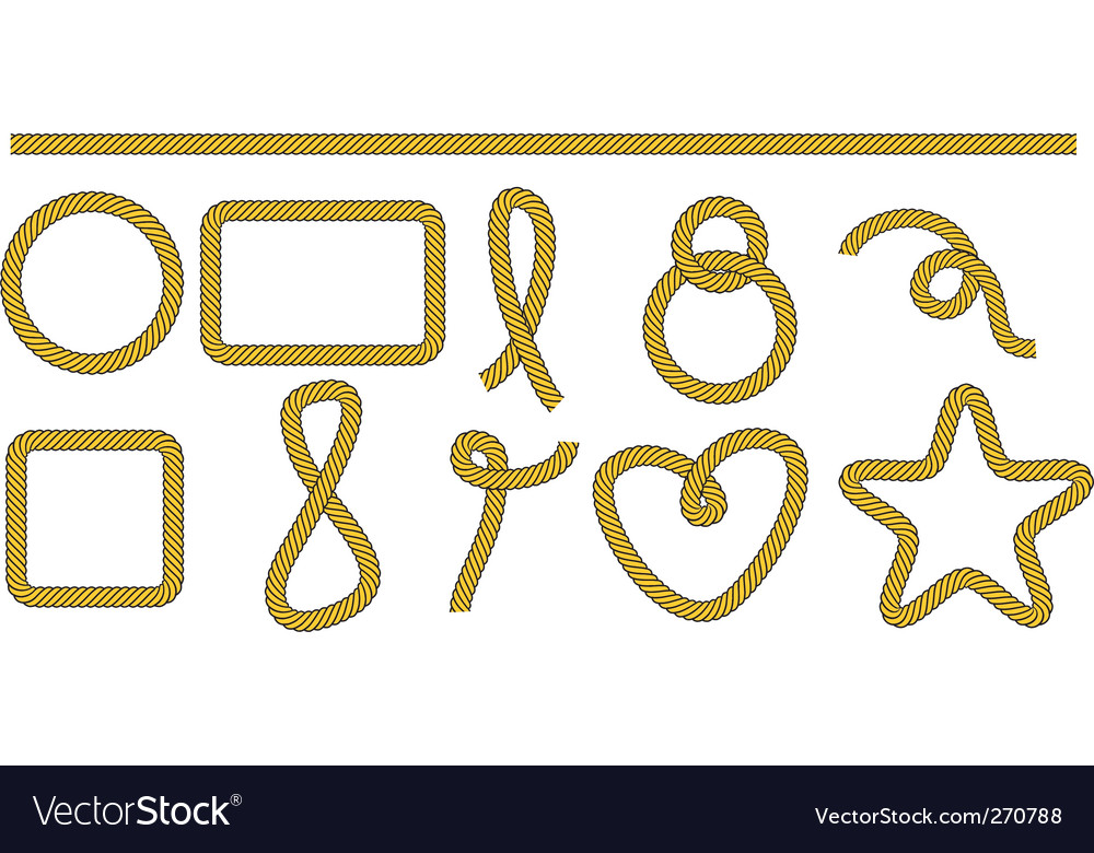Set of frames and shapes vector image