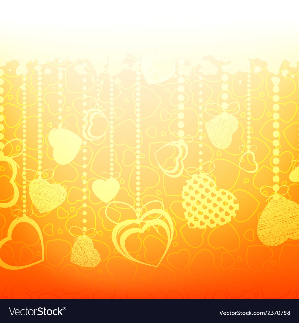Warm abstract valentine card template EPS 8 vector image