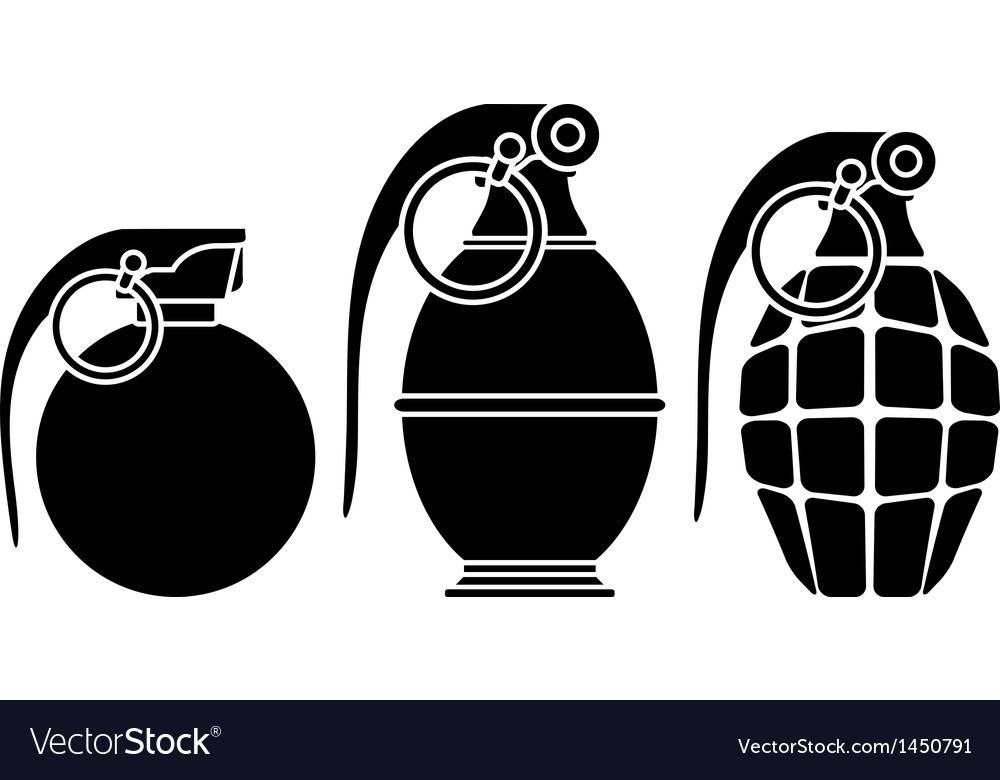 Stencils of grenades vector image