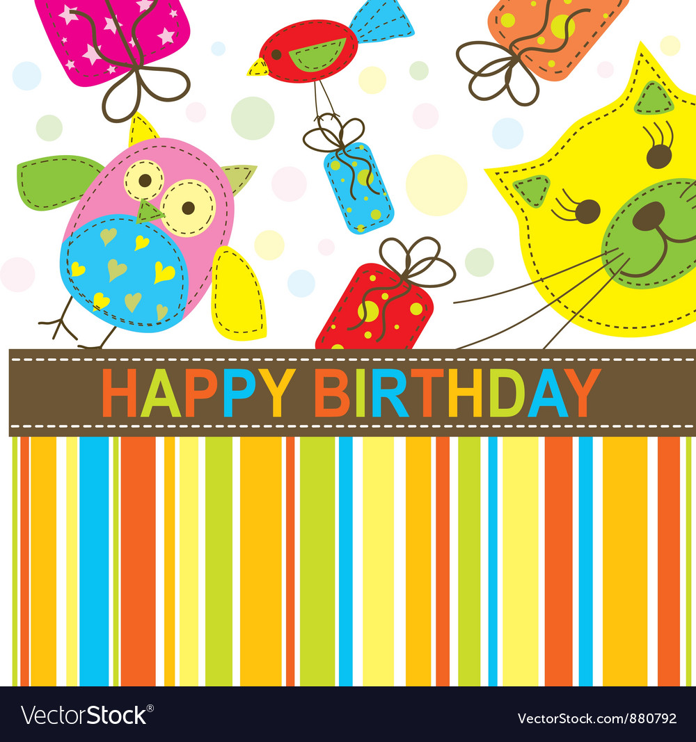Children Birthday Card Royalty Free Vector Image – Children Birthday Cards
