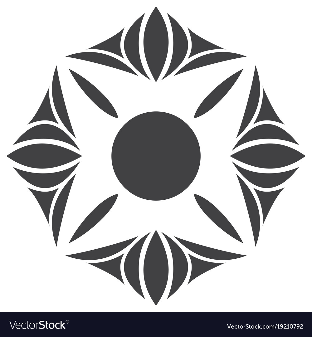 Flower logo template vector image